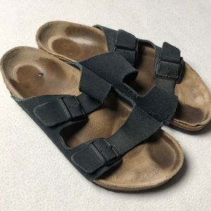 Men's Birkenstock Arizona Sandals Black Leather